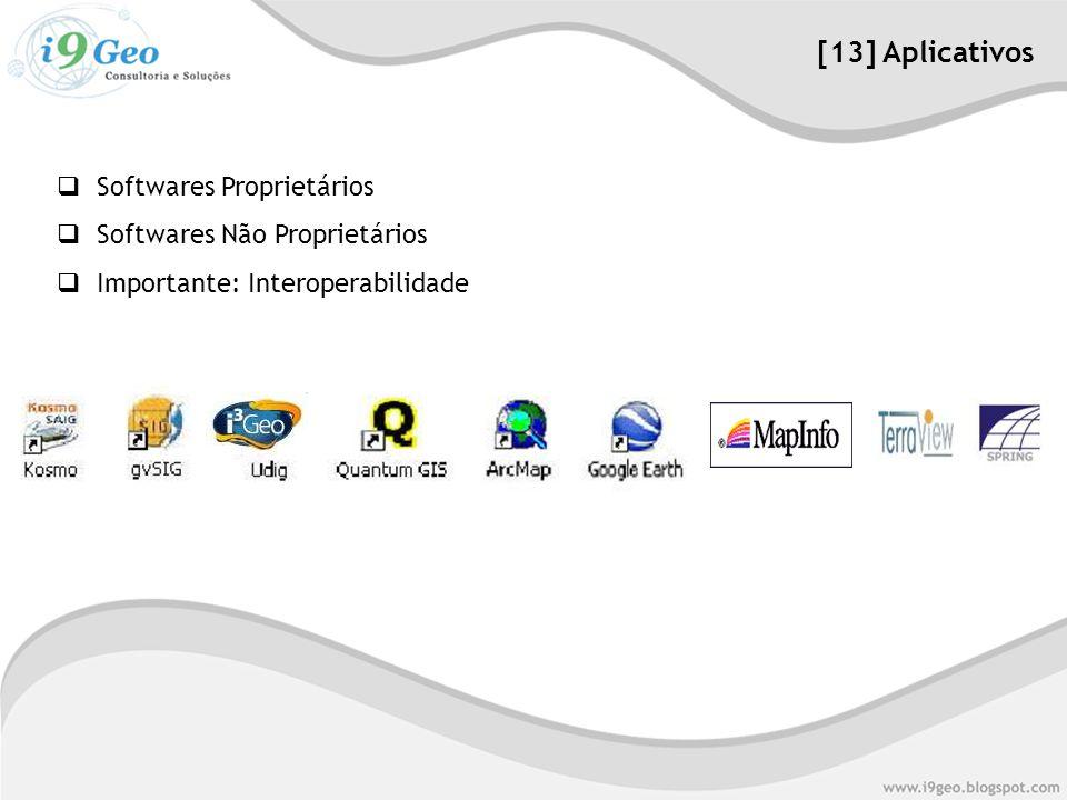 [13] Aplicativos Softwares Proprietários Softwares Não Proprietários